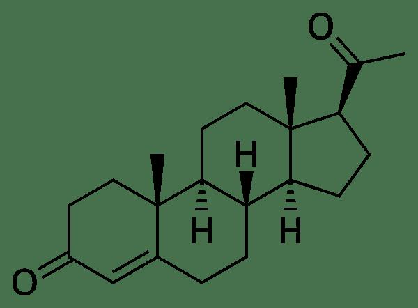 Progesterone hormone structure